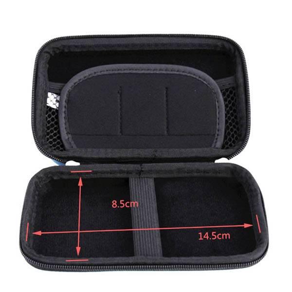 Square eva hard earphone moulded case with velvet inner