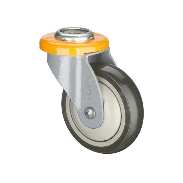 60-100 KG Load PU Wheel Bolt Hole Shopping Cart Caster Trolley Wheel Castors