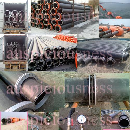 HDPE sand dredger pipe, plastic pipe, HDPE dredging pipe, sand dredger discharge pipe, flange end HD