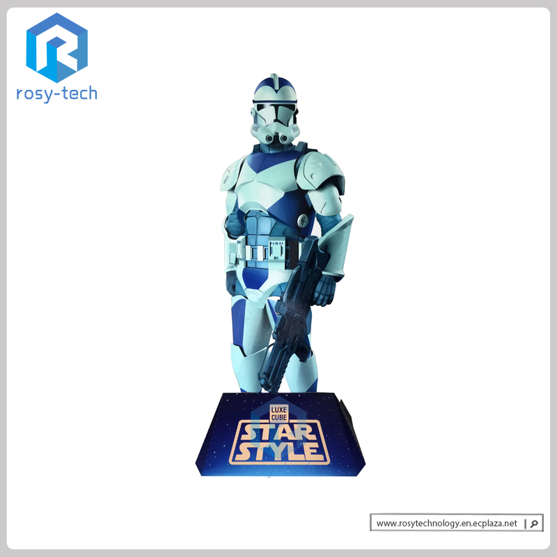 Promotional Toy Advertising Cardboard Custom Shape Standees Cutouts,Corrugated Stand Display