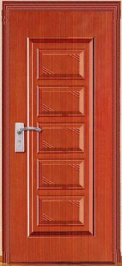 Moistureproof steel security door with pvc coating