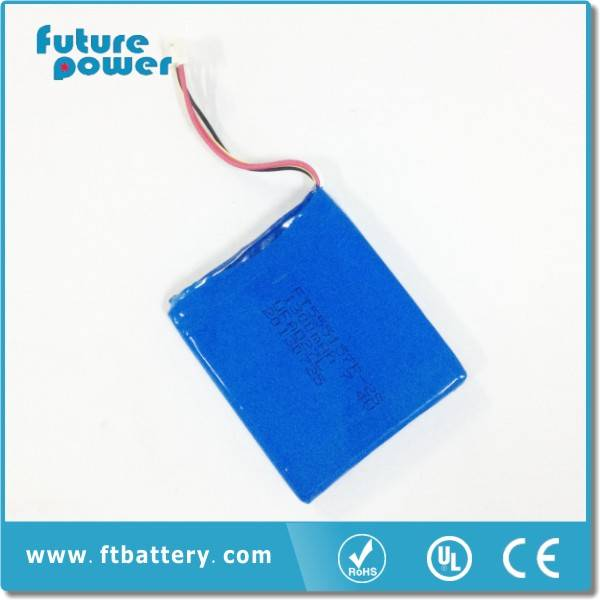 7.4V 1300mah 555157-2S Li-polymer Battery with PCM&Wire for thermal printer