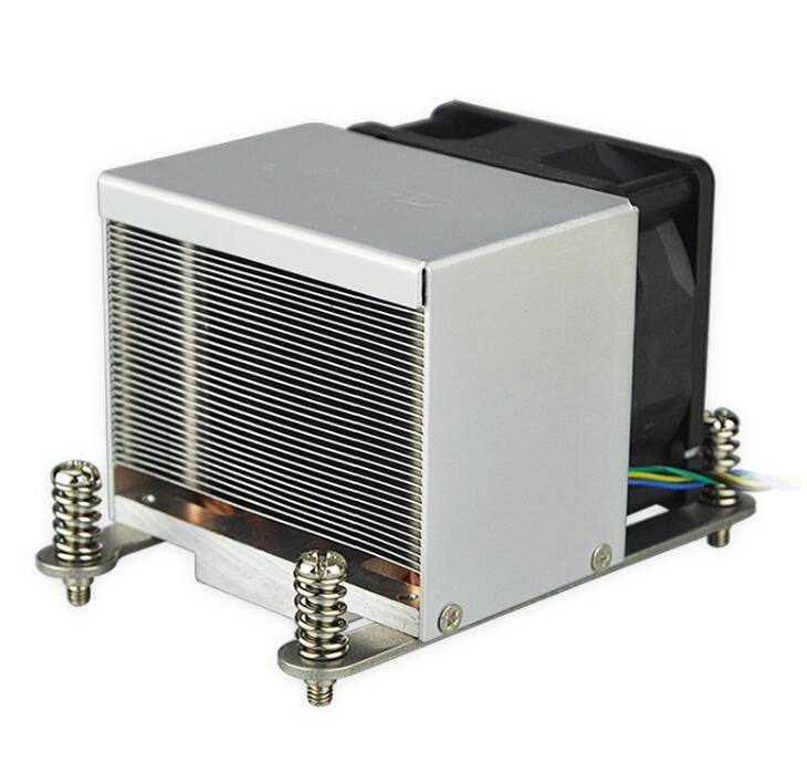 Low MQO Intel CNC Machining 2U Heat pipe fin radiator