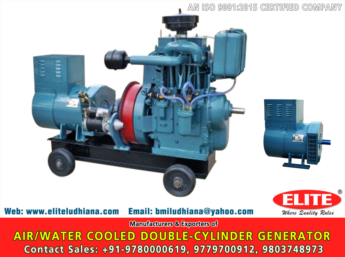 Air/Water Cooled Double Cylinder