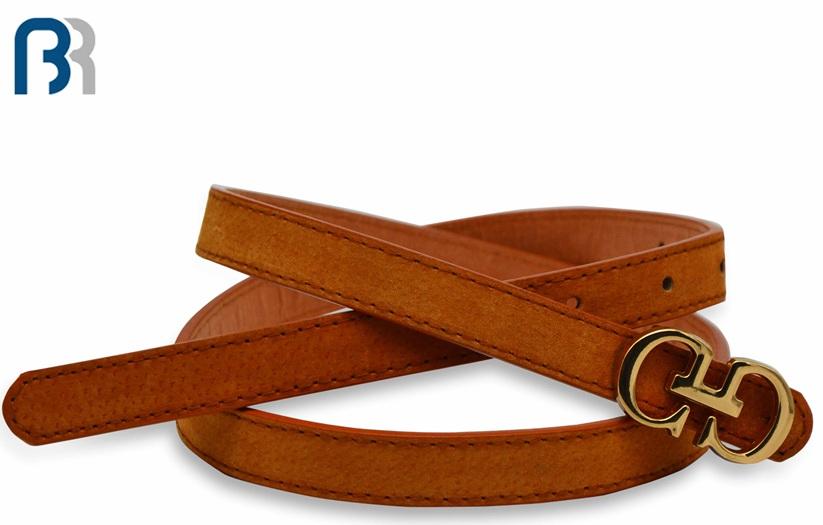 Ladies Plate Buckle PU Belt