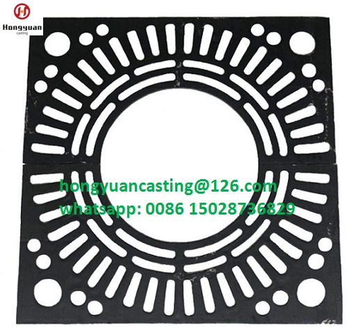 Ductile iron metal tree grate/grating/grill/grid