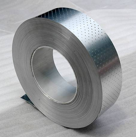 Perforated Aluminum Tape Coated With Polypropylene(PP) for PPR-AL-PPR Pipe