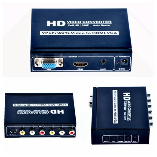 204 AV+SVIDEO+YPBPR to HDMI +VGA