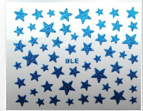 Fashionable non-toxic glittering sticker star heart shape or customized design stickers
