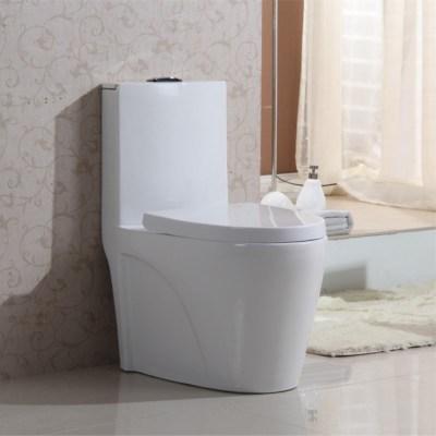 Bathroom ceramic good sale one piece toilet bowl