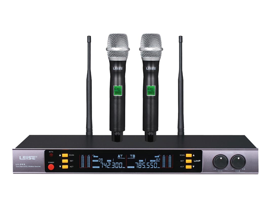 LS-993 Dual Channel UHF wireless microphone