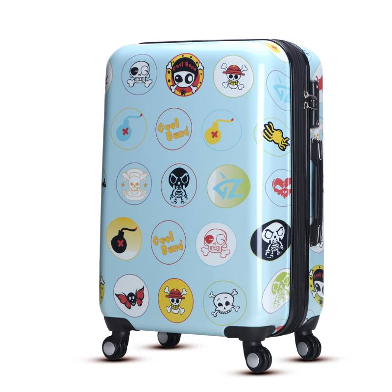 Fashion cool skull abs pc suitcase