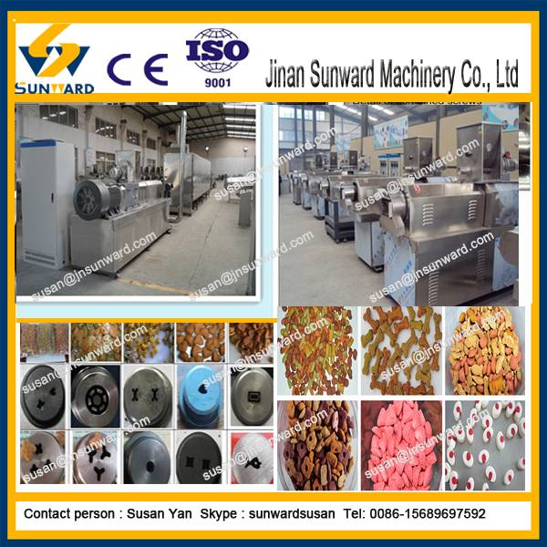CE  fully automatic dog food extruder machine pet food extruder