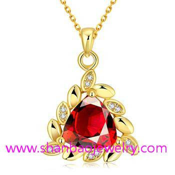 Gold Plated Costume Fashion Zircon Jewelry Necklaces