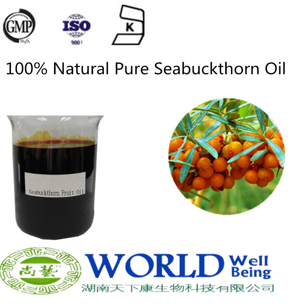 Hot Selling 100% Natural Pure Seabuckthorn Seed Oil Sea Buckthorn Oil Seabuckthorn Cold Press Oil