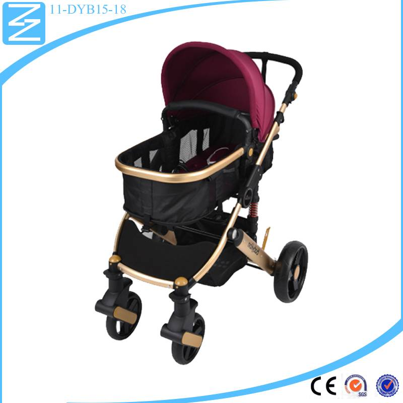 2016 new fashion deluxe fashionable can sit and lay down in seat waterproof baby stroller