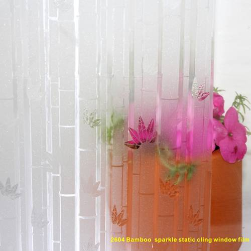 Bamboo sparkle static cling window film