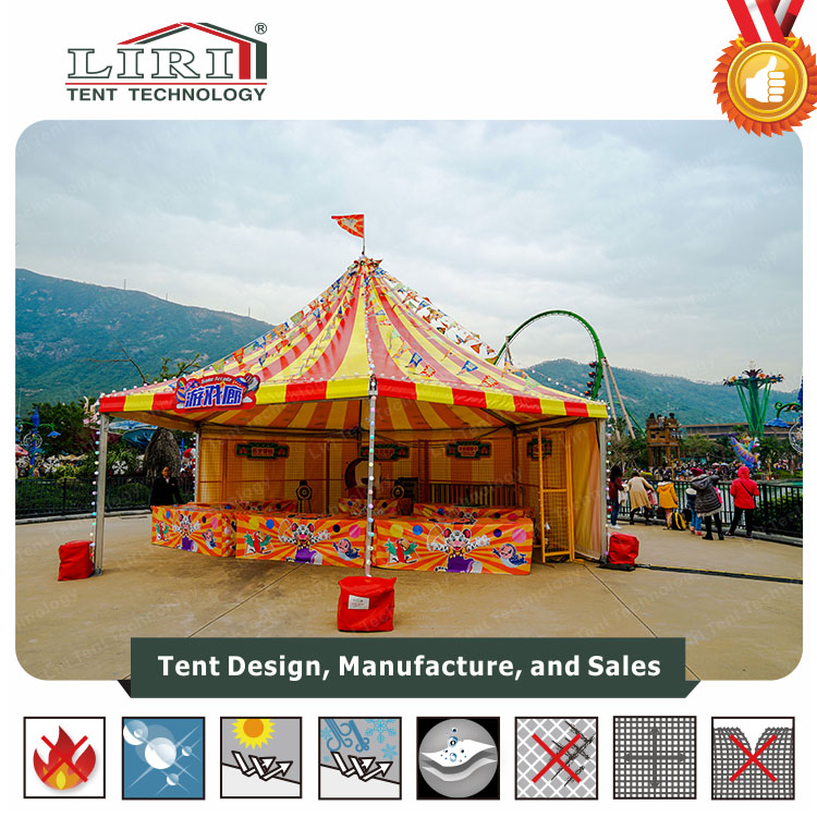 Colorful Multi Sides Tent in Theme Park with Strong Aluminum Frame and High quality PVC Cover