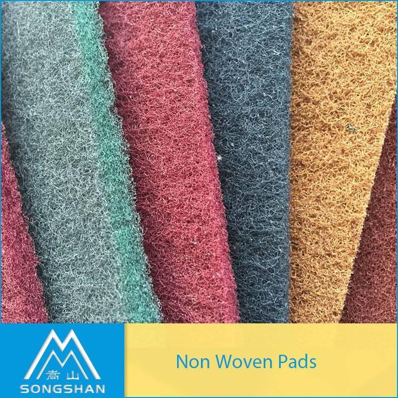 China factory non woven sadning pad abrasive hand pad