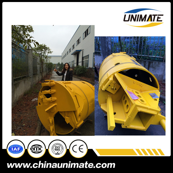 Teeth Rotary Rock Drill Bucket For Sale with 600mm-2400mm