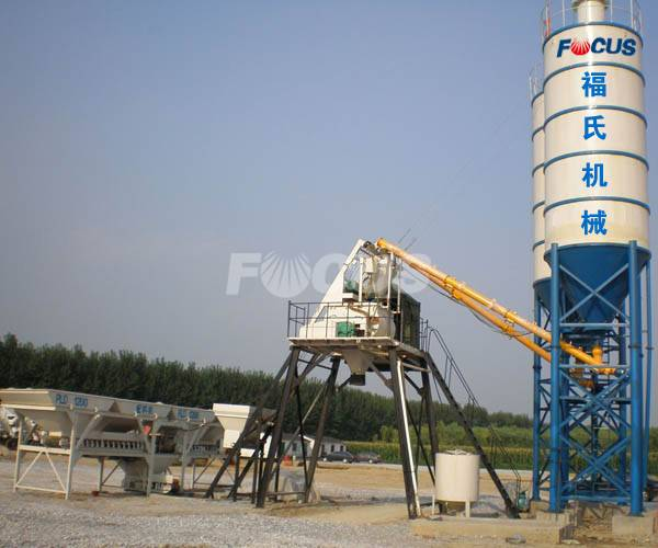 HZS25 Concrete Baching Plant For Sale