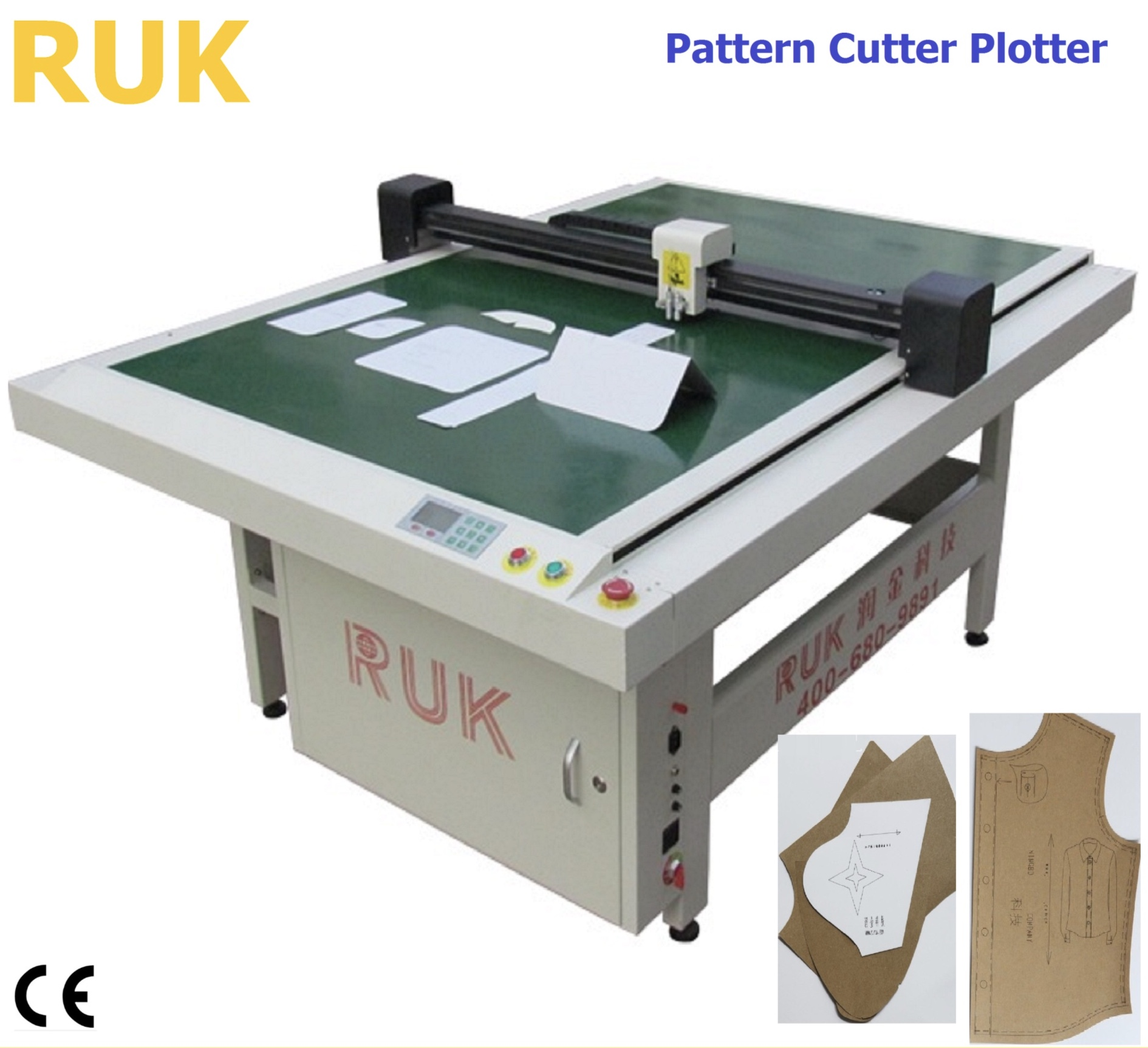 CAD CAM/paper sample cutting plotter/shoes cutting plotter