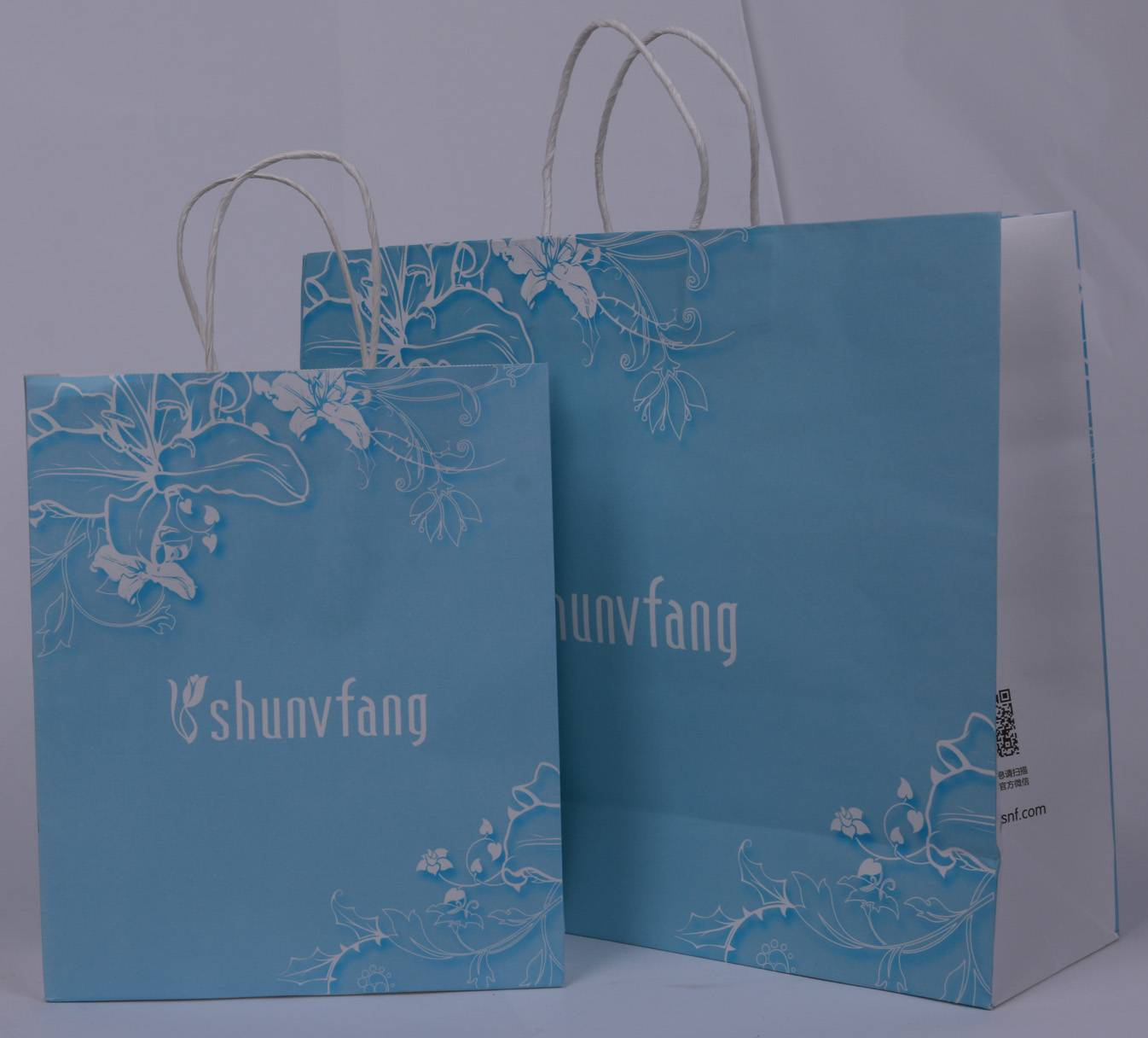 Colorful kraft Paper Bags with custom design, Paper bags with twisted paper handle