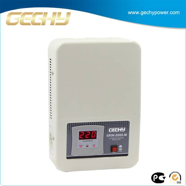 High Precison Wall Hanging Servo Motor AC Voltage Stabilizers for Televisions SRW-2000-M