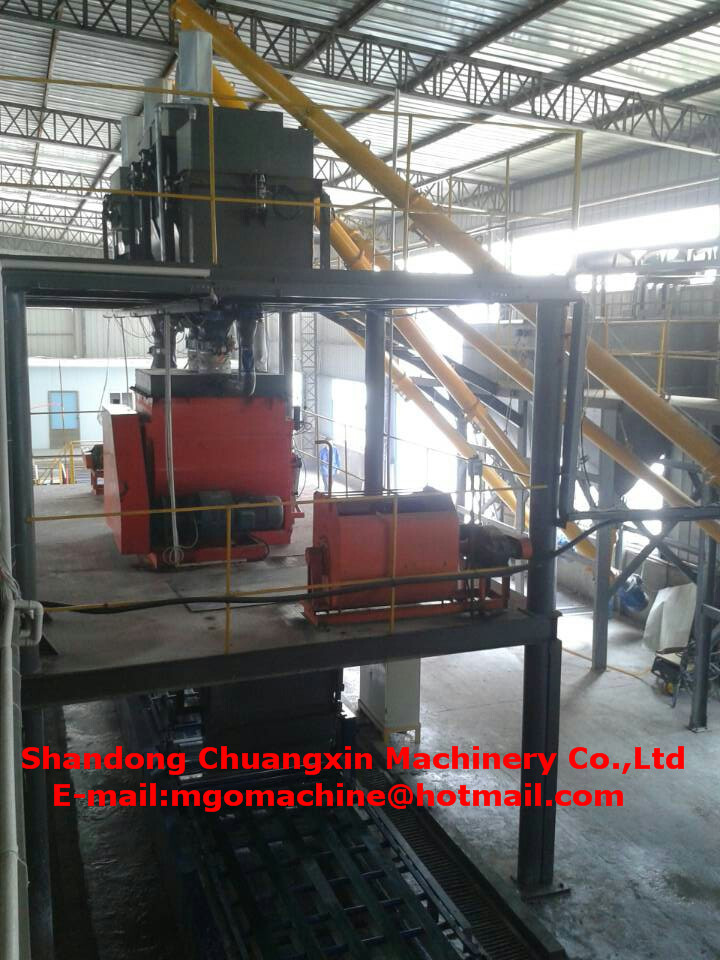 fully automatic mgo board making machine for mgo fireproof panel