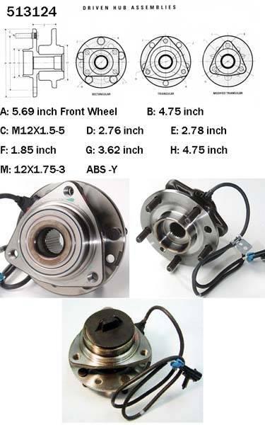 Chevrolet Truck front wheel hub assembly 513124/12413045