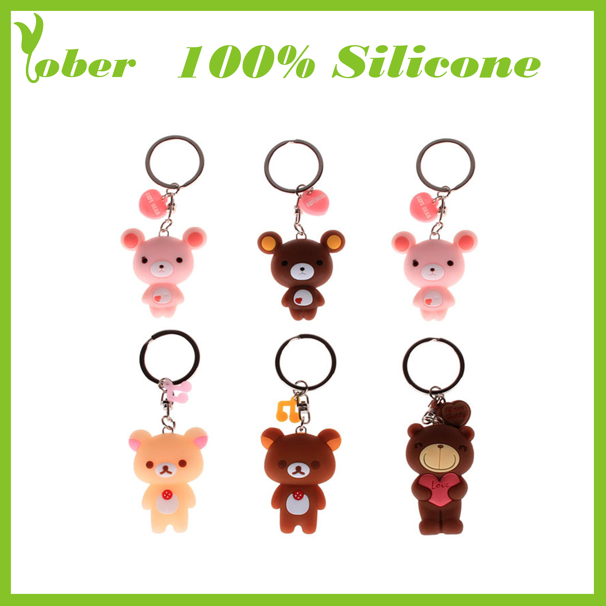 100% Silicone KeyCoin Case Silicone Keychains