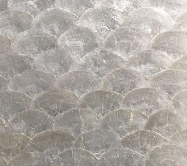 white capiz shell tiles