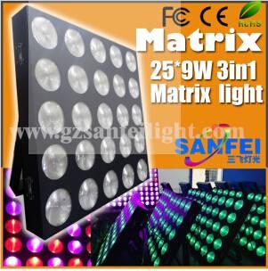 25*9W LED Matrix Lattice Stage Wash Light Matrix Effect Lighting