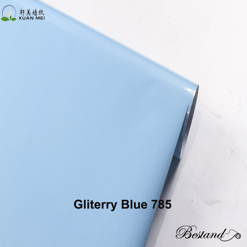 Pure colors Gliterry surface renovate decorative pvc Film for Cabinet Furniture