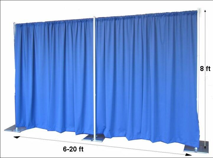 Stage decoration pipe and drape kits pipe drape curtains