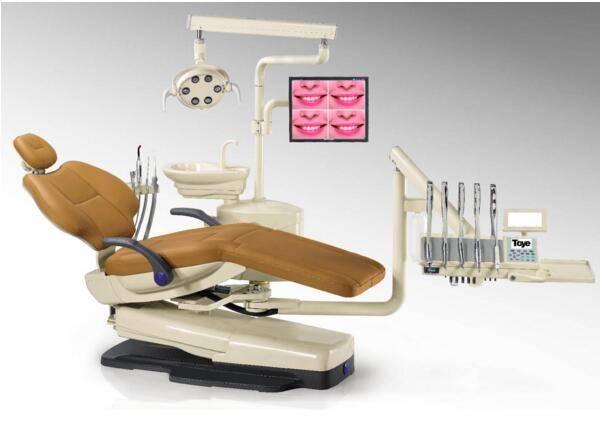 Luxury PU Cushion Ergonomic Dental Chair Units AC110V / 50Hz