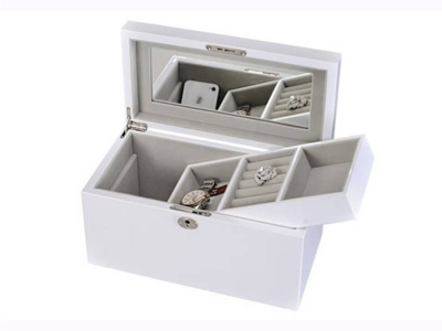 White Wooden Jewelry Box