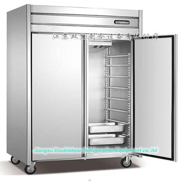 Double door GN plate kitchen refrigerator,