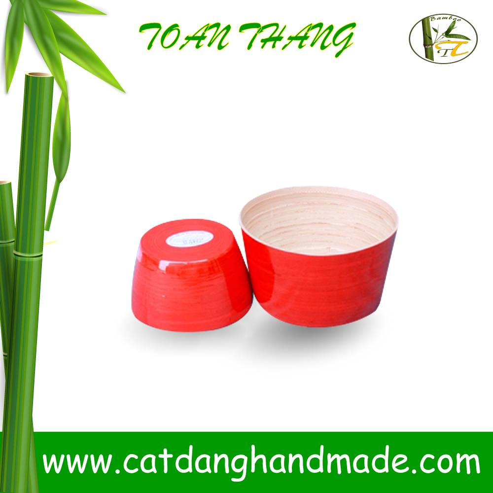 bamboo bowl for home decor/fruit/salad , unique bamboo bucket