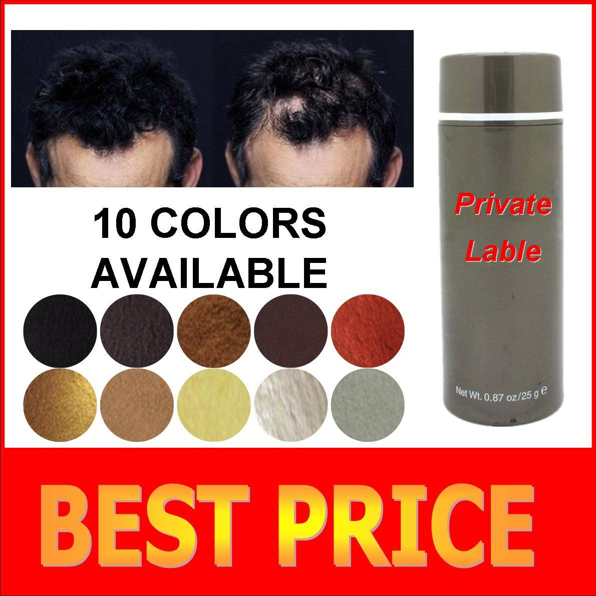 China keratin hair fiber powder hair grower solution for men and women
