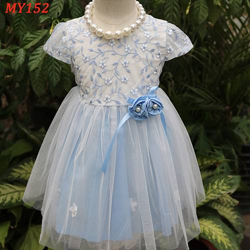 Hot sale long frocks for teenagers pictures flower pattern girl dress