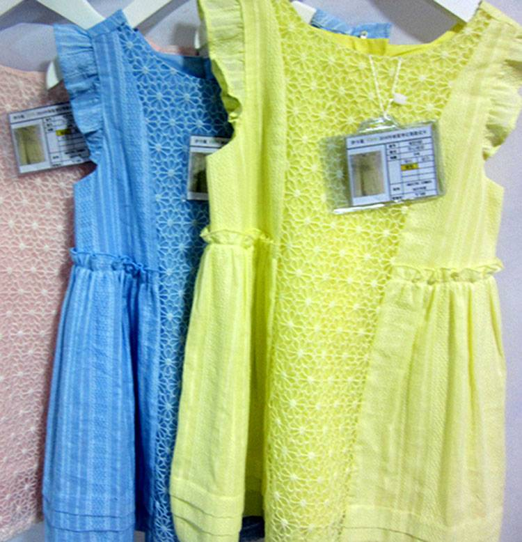 Casual Sleeveless Cotton Blue Fashion Lace Dress for Girls MY332