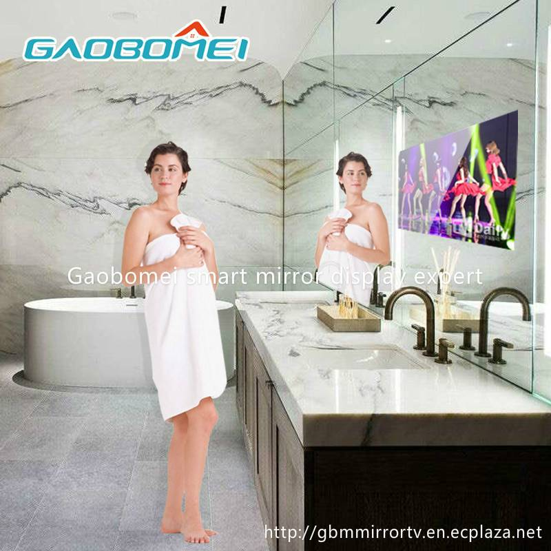 "Gaobomei 65"" AD Smart Mirror network player magic mirror with ad management software/wifi"