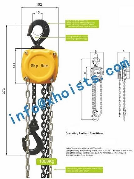 Hand operated hoist