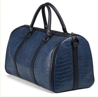 Real leather luggage bags for travel