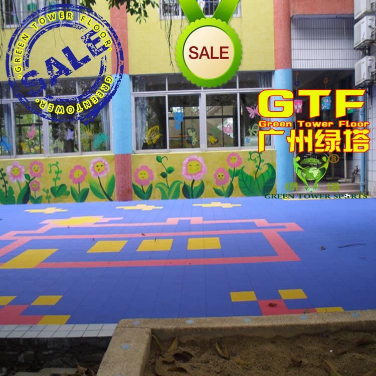 Kids Playground Colorful PP Sports Interlocking Tiles
