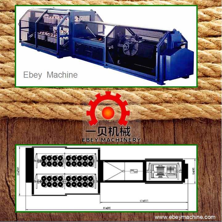 ACS-M66 Rope making machine 8-20mm