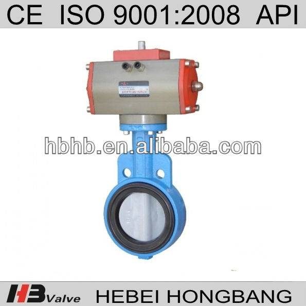 pneumatic butterfly valves with pneumatic actuator