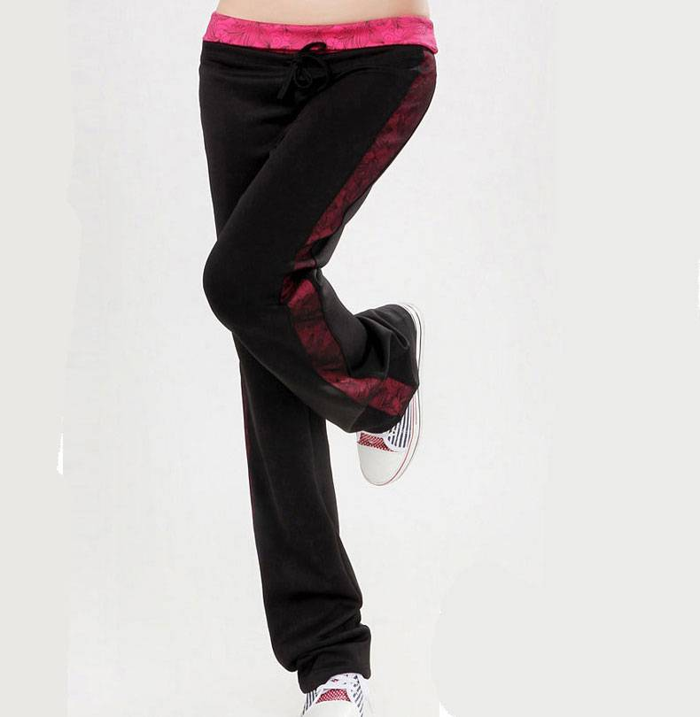 New Design Waistband With Pattern Ladies Sweat Pants