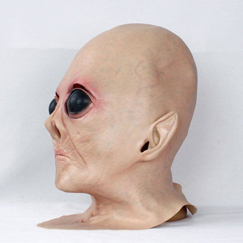 Youtumall Latex UFO Alien ET Full Mask Toy/Prop